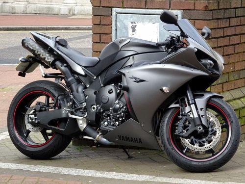 Silver Gray Yamaha Motorcycle