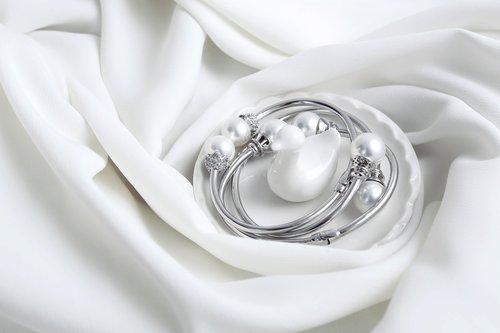 silver jewelry  bracelet  pearl jewelry