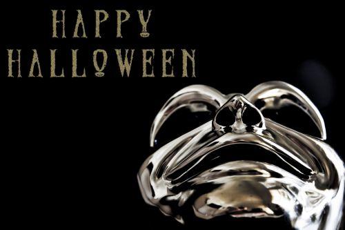 Silver Mask Halloween Greeting