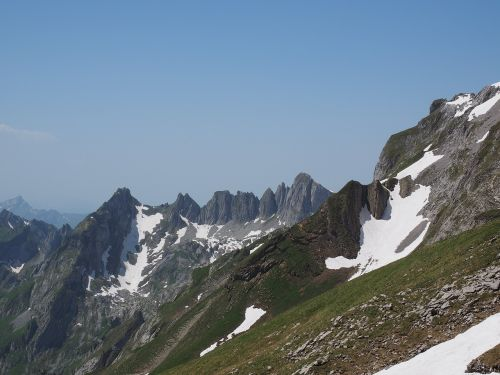 silver plates mountain alpine