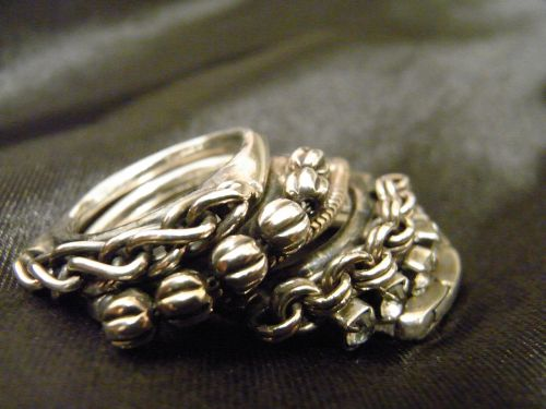 silver ring satin foppery
