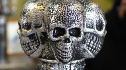 Silver Skull Faces Trio