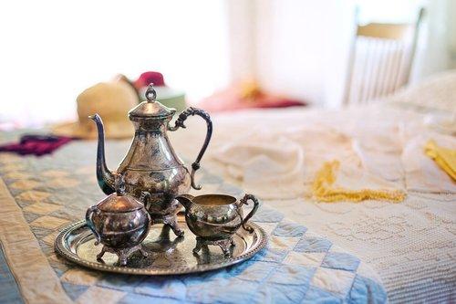 silver tea set  tea time  tea