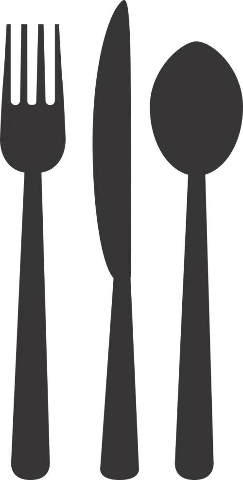 silverware plate fork