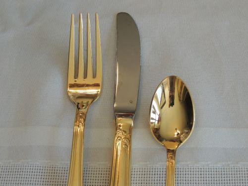 silverware fork knife