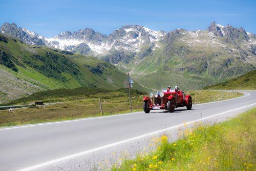 silvretta classic montafon rally mountain landscape pass road bielerhöhe