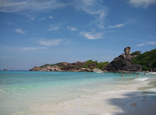 similan island,donald duck rock,booked,sea,beach,turquoise blue