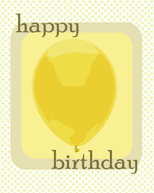 Simple Birthday Balloon Card