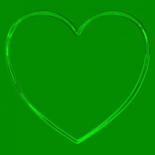 paprastas, širdis, metalinis, kontūrai, blizgantis, blizgus, kontūras, žalias, paprastas širdies metalas kontūras žalia