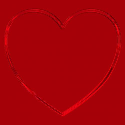 paprastas, širdis, metalinis, kontūrai, blizgantis, blizgus, kontūras, raudona, paprastas širdies metalas kontūras raudonas