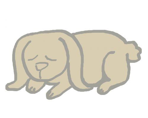 Simple Rabbit Doodle 3