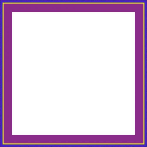 Simple Violet Yellow Blue Frame