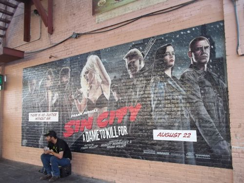 sin city mural wall art