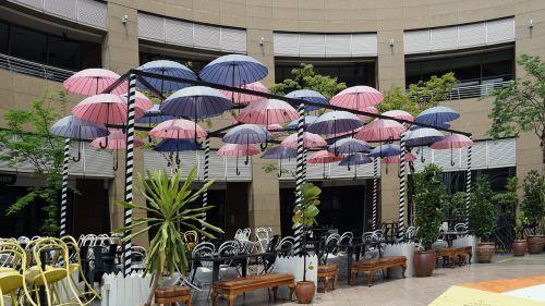 singapore parasols courtyard