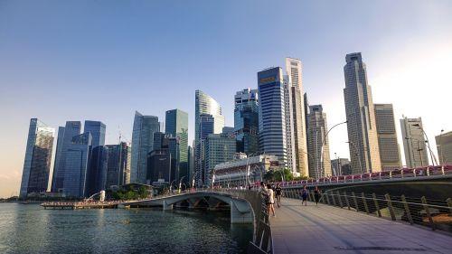 singapore singapore river jubilee bridge