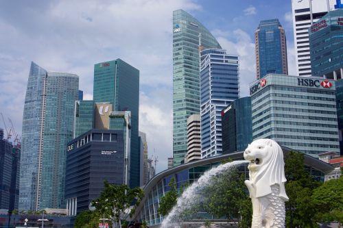 singapore city fountain