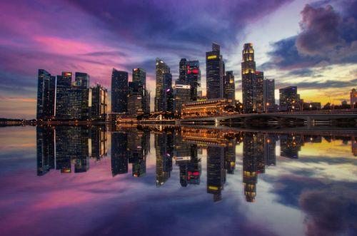 singapore marina bay sunset