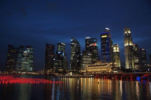 singapore singapore skyline singapore river