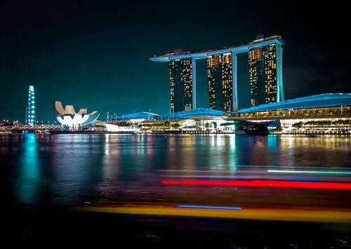 singapore singapore river skyline