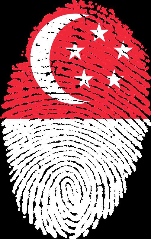 singapore flag fingerprint