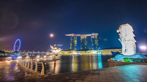 singapore merlion marina baysand