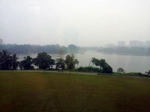 Singapore Chinese Garden In Haze