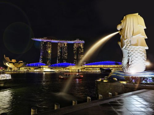 singapore river merlion icon