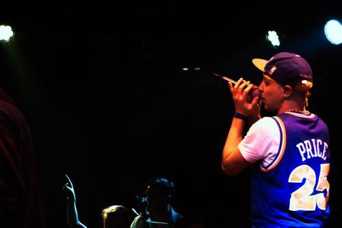singer live performance stage