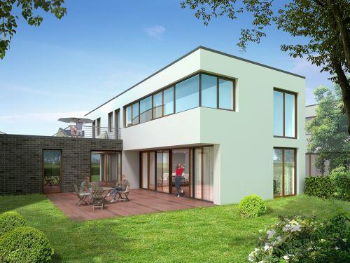 single family home villa rendering