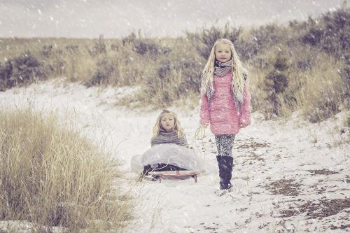 sisters snow girl