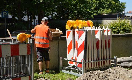 site marking work barrier