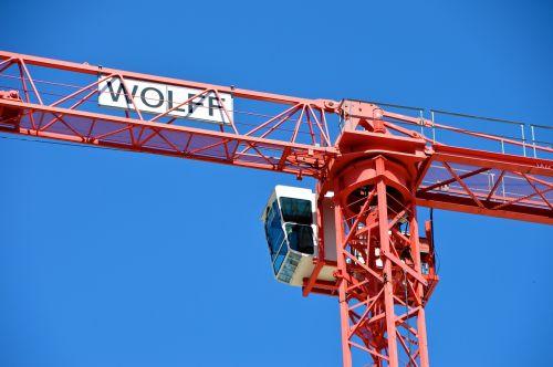 site building construction crane