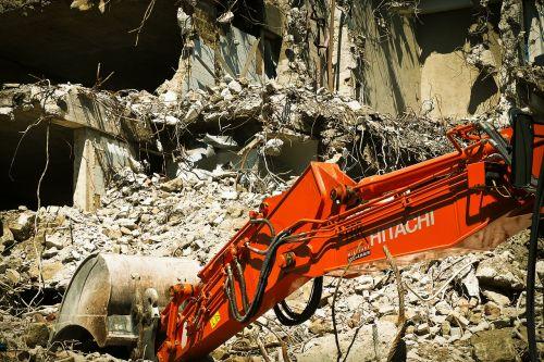 site demolition excavators