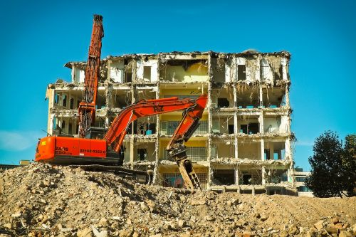 site excavators construction work