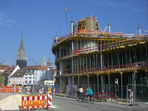site construction work scaffold