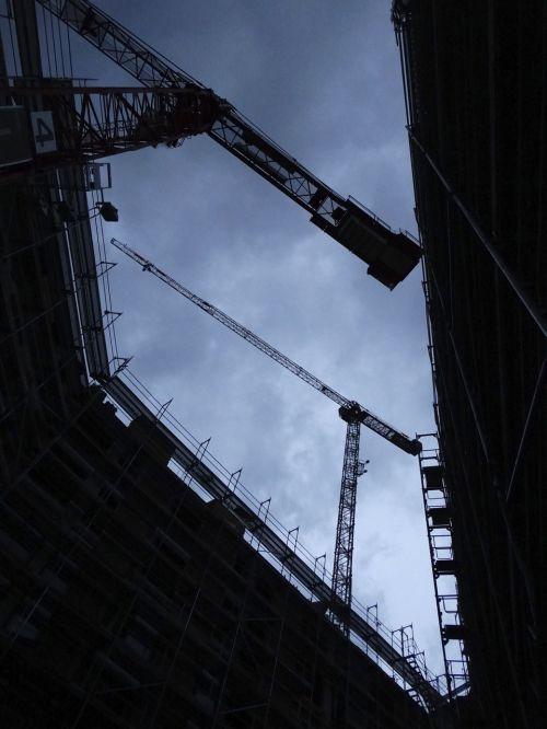 site baukran construction work