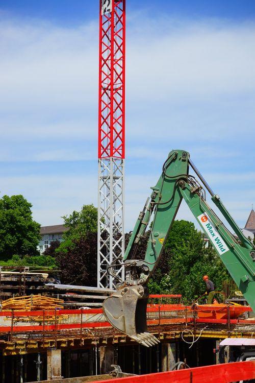 site excavators baukran