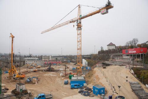 site crane baukran