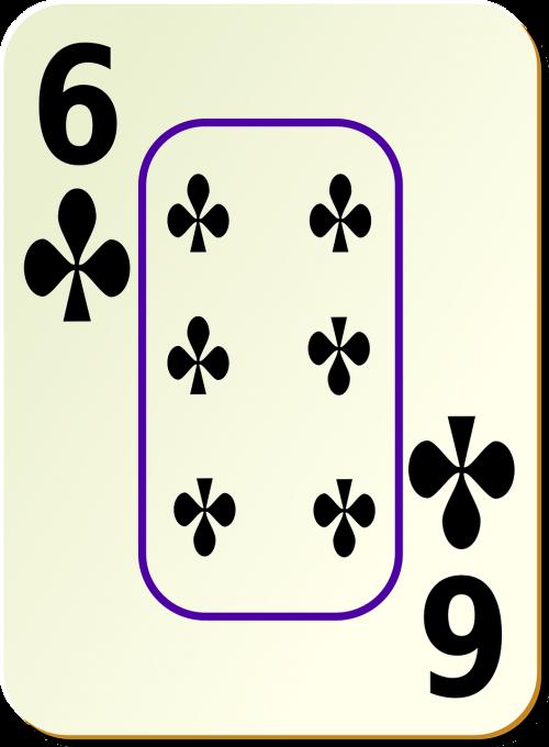 six clubs card