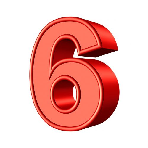 six 6 number