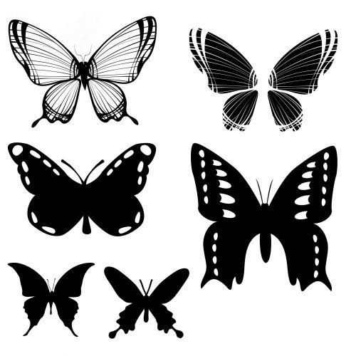 Six Butterflies