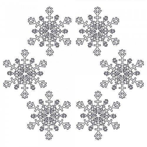 Six Snowflakes