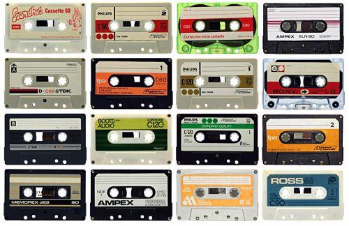 Sixteen Audio Cassettes