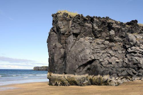skardisvik,papludimys,vulkaninis uolas,jūra,Rokas,snæfellsnes pusiasalis,iceland,gamta,kraštovaizdis,vanduo,kranto,akmenys,smėlis,vulkaninis,midijos