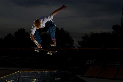 skateboard grab air