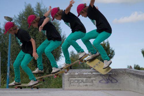 skateboard trick multi