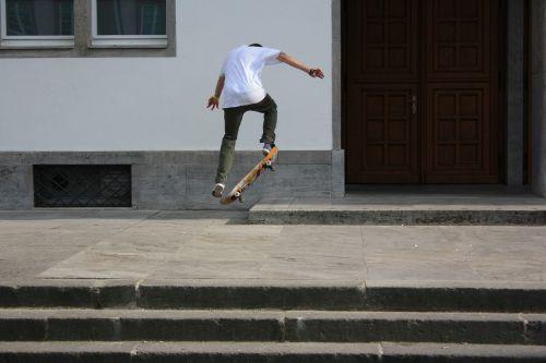 skateboard drive jump