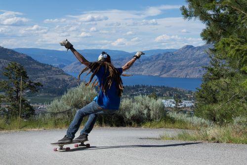 skateboard longboard skater