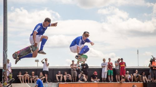 skateboard jump skateboarder