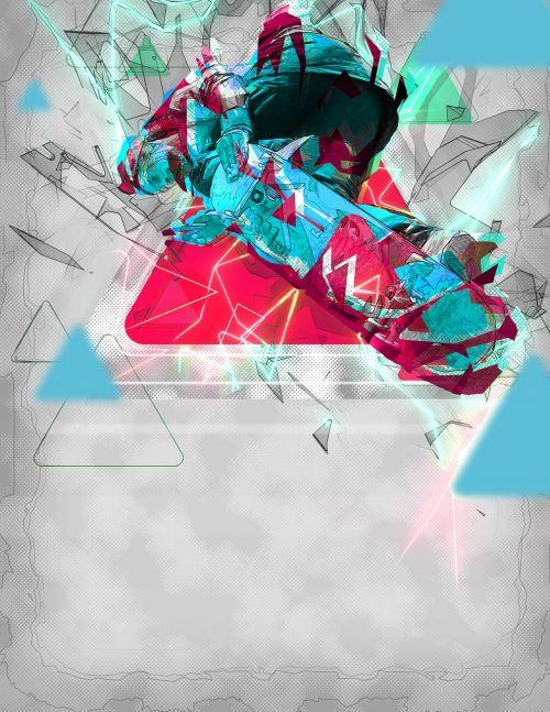 skateboard art abstract
